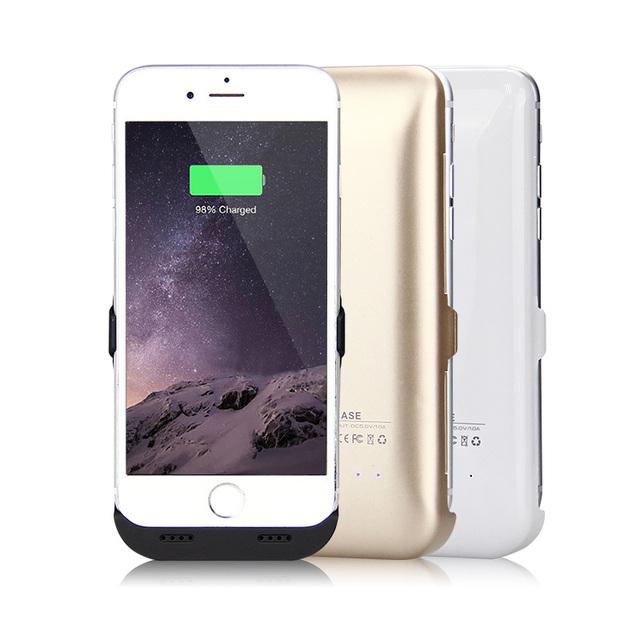 7500 mAh/10000 mAh Recargable Powerbank Banco de la Energía Del Cargador de Batería de Reserva Externa de La Cubierta caso para iphone 6 5s se 6 6 s 7 7 Plus