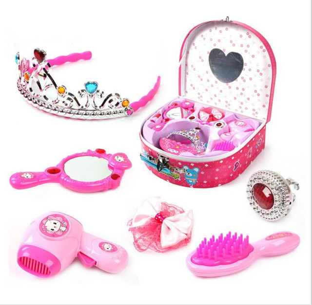 Hot super fine jewelry box princess makeup girl play house toy