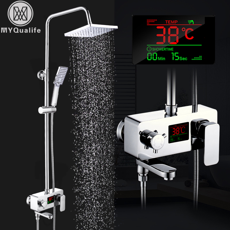 Intelligent digital shower faucet set water powered shower - Intelligent shower ...