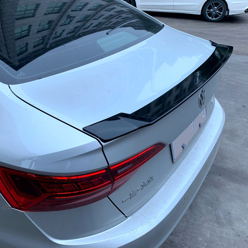 For 2019 Volkswagen Sagitar Jetta2019 ABS Plastic Unpaint Exterior Rear Spoiler Tail Trunk Boot Wing Decoration Car Styling|Spoilers & Wings| |  - title=