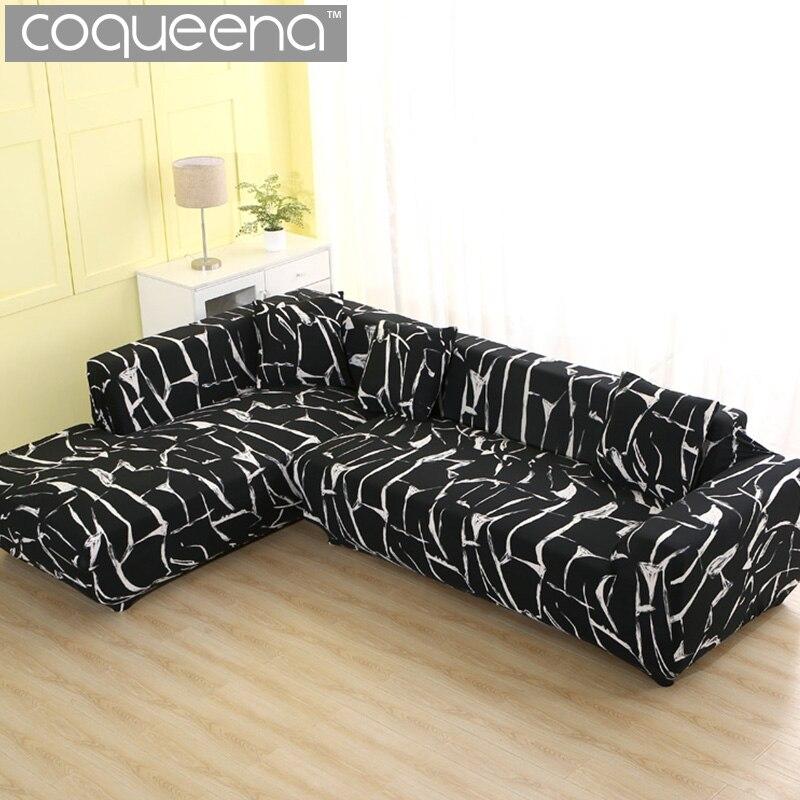 2 шт. Чехлы для L образный диван Универсальный эластичные угловой диван обложки Home Decor SC031