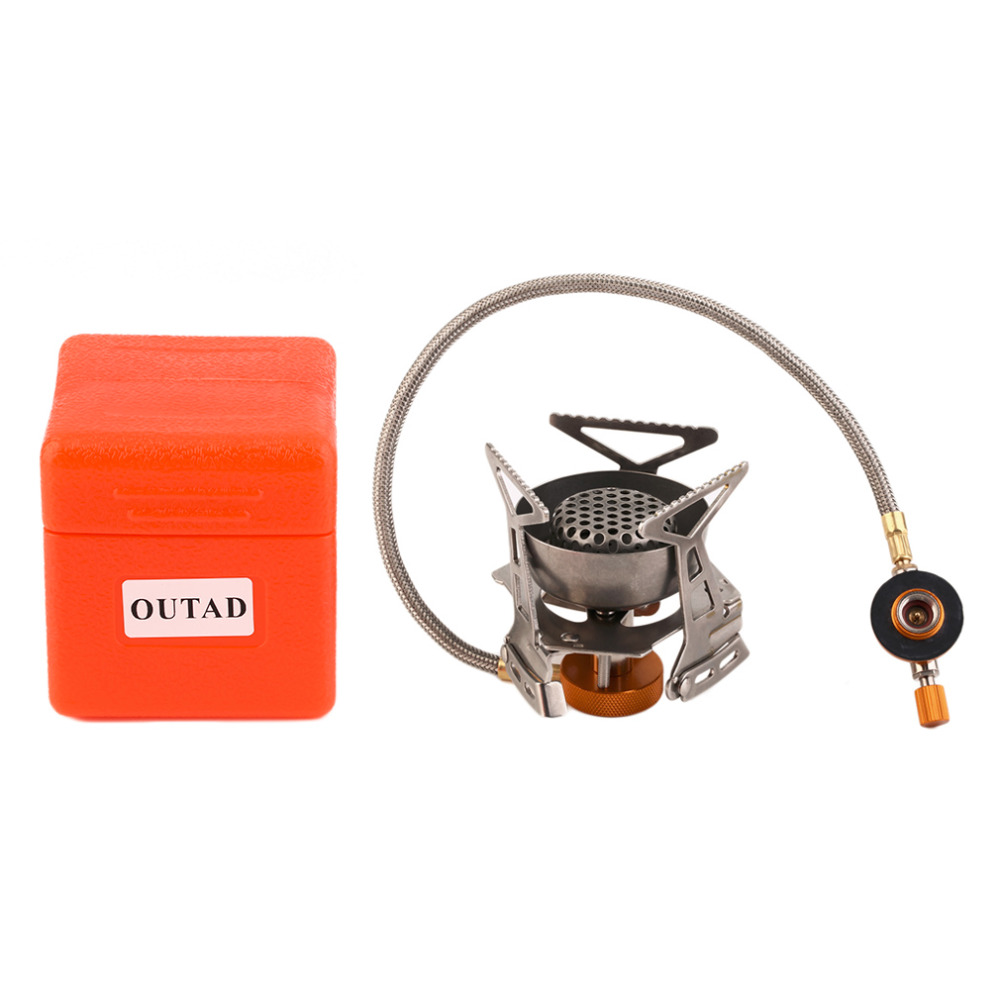 OUTAD Stainless Steel/Copper Efficient Windproof Gas Stove Camping Gas Stoves In Box Portable Foldable Split <font><b>Furnace</b></font> Butane top