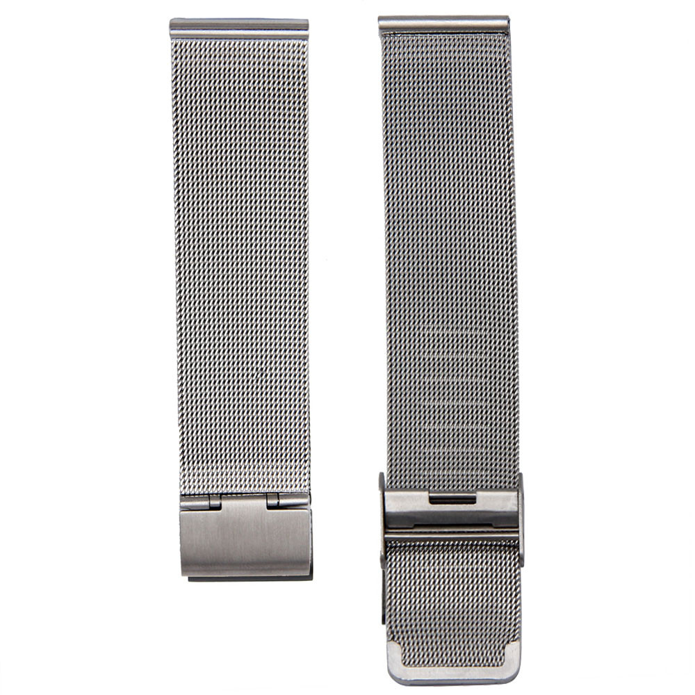 12/14/16/18/20/22mm Stainless Steel Watch Strap Wrist Bracelet Silver Color Metal Watchband With Folding Clasp Мода по-милански