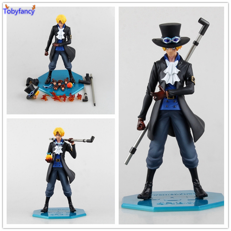 Tobyfancy One Piece Figura Japanese Anime Figure Sabo Pop One Piece Action Figure PVC Figurine Collection Toy pop one piece sabo with devil fruit pvc action figure toys collective doll 10 25cm free shipping
