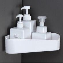Fashion Toilet rack wall hanger corner storage non perforated bathroom suction tray tripod 19*19*24cm
