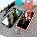Moda Marca Stussy Preto e Rosa superfície do Espelho da tampa do Caso TPU Macio para iphone 7 7 plus 5 5S se 6 6 s 6 mais