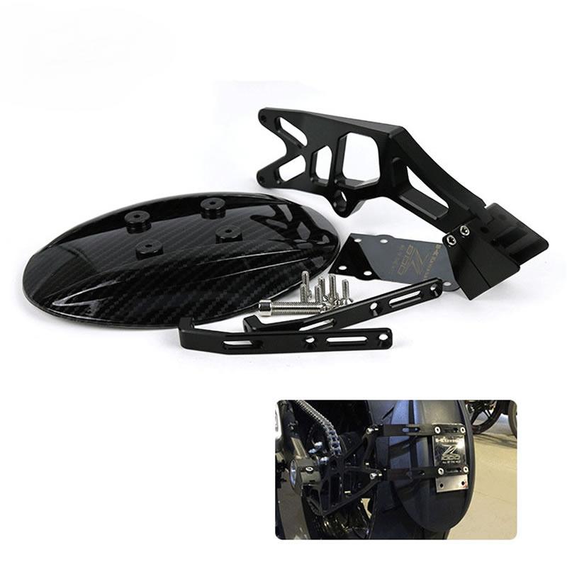 Мотоцикл изменение ЧПУ Алюминий углеродного волокна заднее крыло лицензии Рамки Крыло Fender Для Kawasaki Z1000 Z1000SX 2010-2016