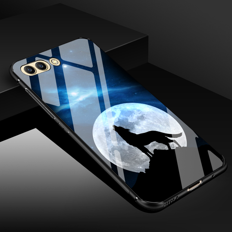 Original ECLEARER Case For Huawei Honor View 10 Luxury Soft TPU PC + Tempered Glass Back Cover For Huawei Honor V10 View 10 Case iPhone XS