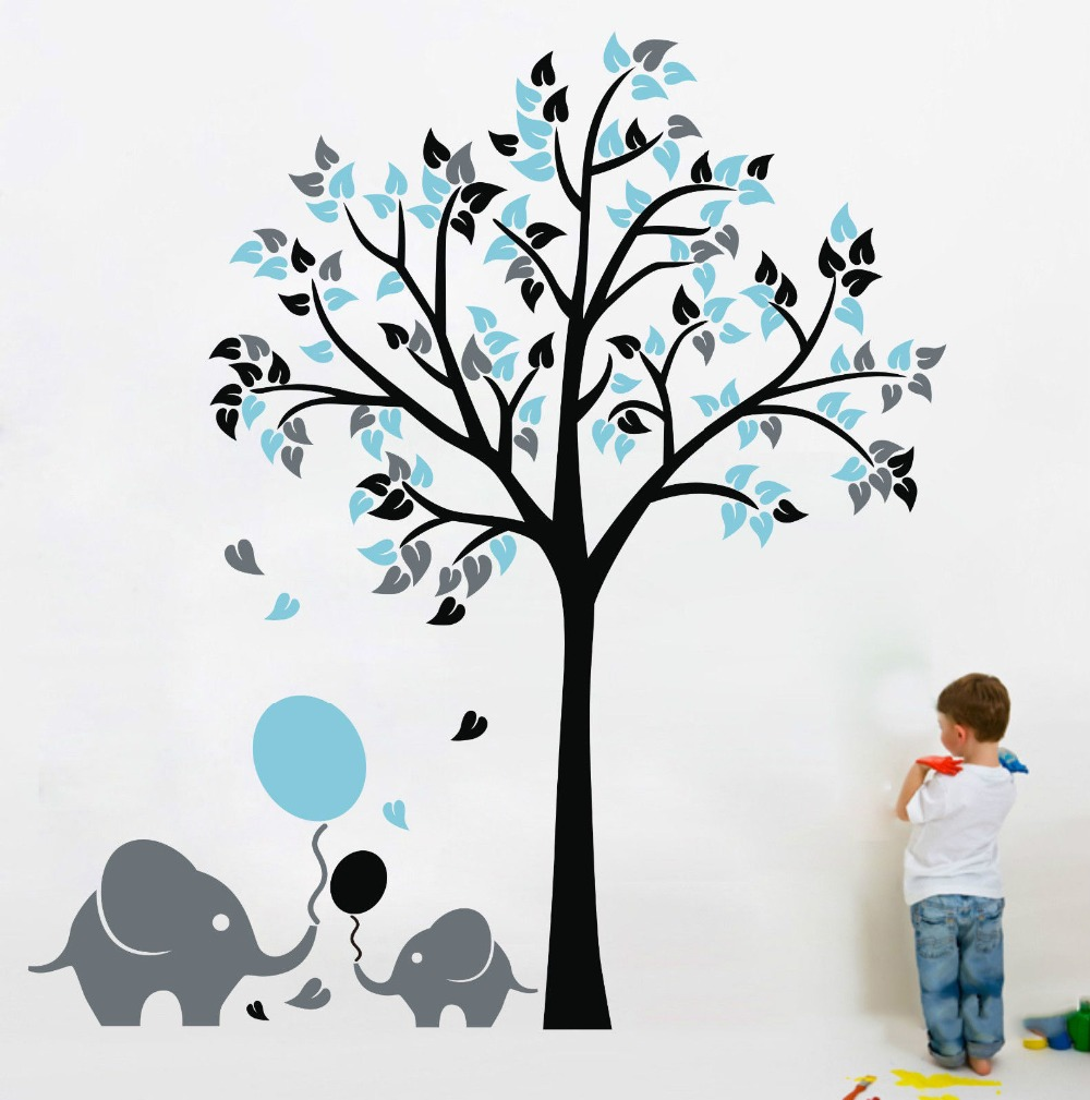 Aliexpress com buy oversize high150cm 200cm elephant tree wall decals wall mural nursery