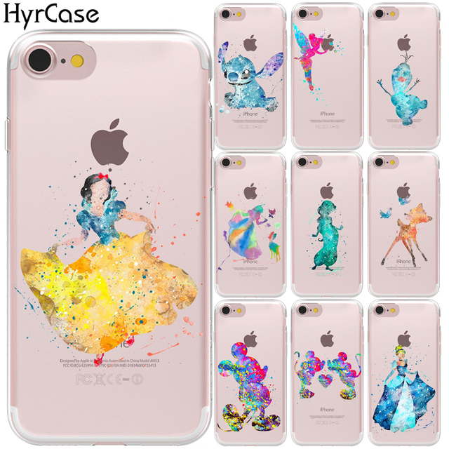 info for c85c5 298aa US $1.32 33% OFF|Watercolor Deer Snow White Mickey Mouse Soft TPU Phone  Back Case Cover For Coque Apple iPhone X XS Max XR 8 7 6 6S Plus 5 5S SE-in  ...