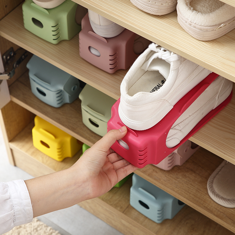 8pcs Durable Plastic Shoe Organizer Detached Double Wide Shoe Storage Rack  Modern Double Cleaning Storage Shoes Rack Stand Shelf-in Storage Holders    Racks ... 20fe9cebe2fd