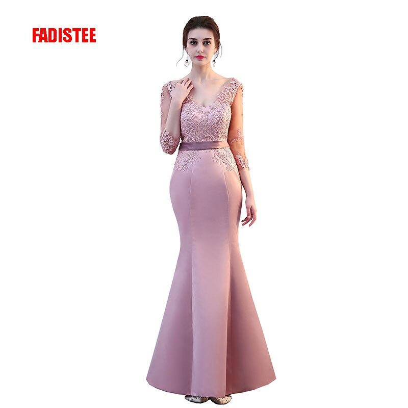 FADISTEE nouveauté élégant fête sirène robes de bal robe de soirée robe de soirée dentelle sexy satin longue formelle