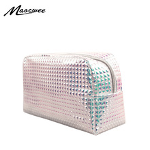 Women Harajuku Holographic Cosmetic Bags Organizer Makeup Bag Female Travel Toiletry Large Capacity Storage Beauty