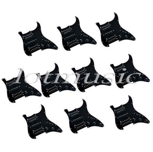 10 Sets HSH Loaded Pickguard Black Wired Plate For Electric Guitar Replacement Parts hyundai hsh p121ndc