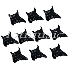10 Sets HSH Loaded Pickguard Black Wired Plate For Electric Guitar Replacement Parts