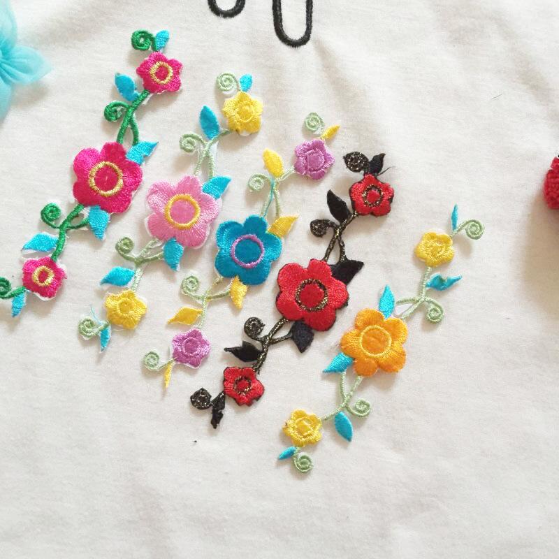 Patrones bordados flor pequeña apliques Parches para Ropa Étnica ...