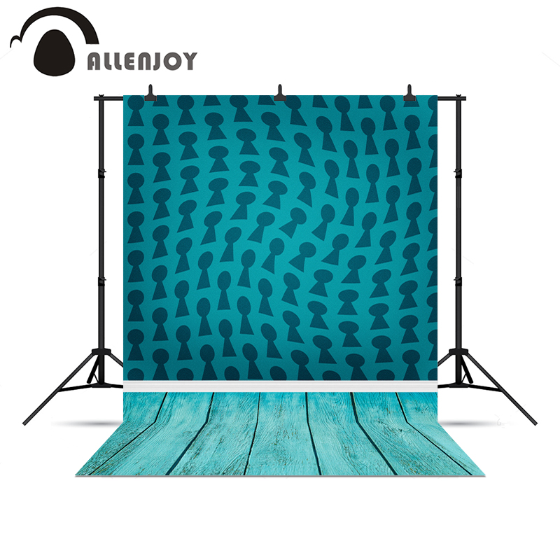 Allenjoy photography backdrops Blue vortex magic wood floor backgrounds for photo studio background shoots vinyl