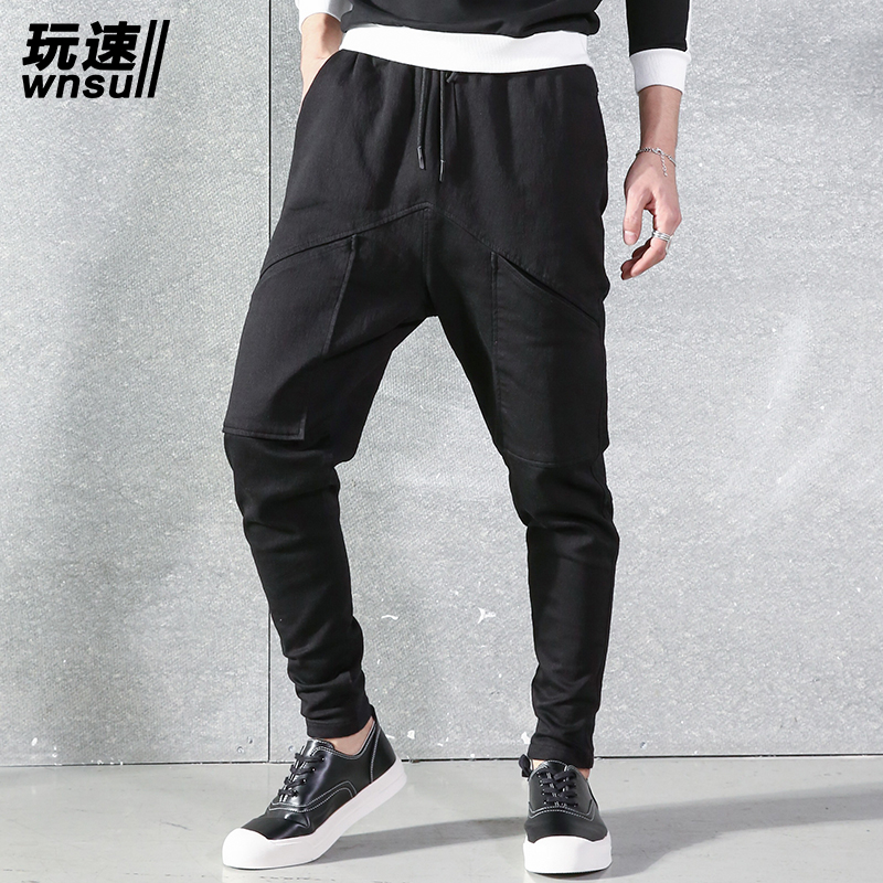M-6XL!!! 2017  Big yards men's trousers  Spring and summer harem pants original design male pants personality loose long harem
