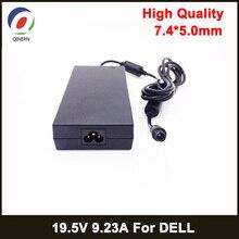 Adaptador de laptop 180w 19.5v 9.23a 7.4*5.0mm, adaptador para dell precision m4600 m4700 m4800 alienware 13 r3 fonte de alimentação do carregador da180pm111