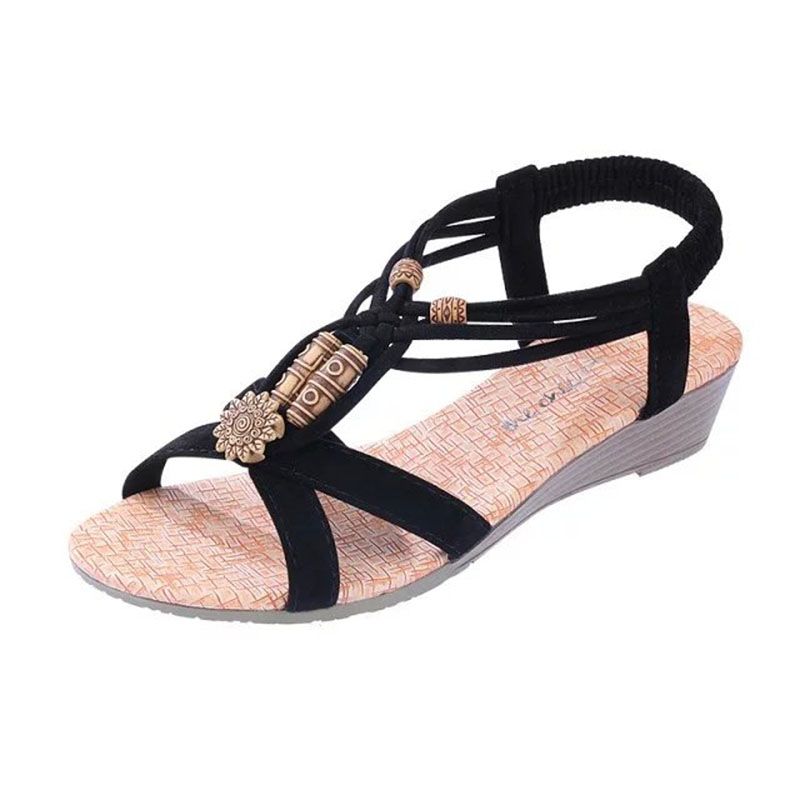 Sandales 2018 Femelle Rétro Haute Flip Qualité Chaussures Femmes Beige Plage noir Confort Flops Mode De D'été rwpErAOxaq