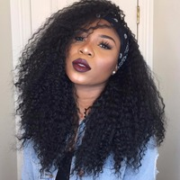 Afro Marley Kinky Curly Synthetic Wigs For African American Women Black Silky Strands Brown Medium Length Wigs