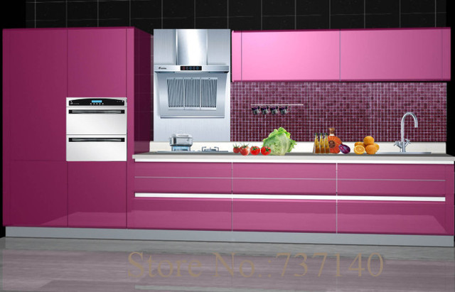 Purple Color Lacquer Kitchen Cabinet China Furniture Ing Agent