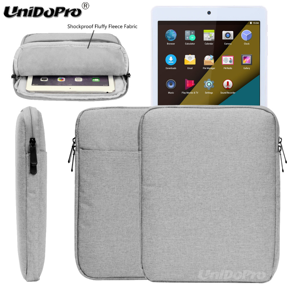 Unidopro Waterproof Pouch Case for Teclast P10, T10, X10, X10 Plus, Tbook 10 S Tablet Protective Travel Sleeve Zipper Bag Cover 2016 new 2 in 1 strong sucker keyboard with touchpad case for teclast tbook 10 10 1 win8 win10 tablet cover for teclast tbook