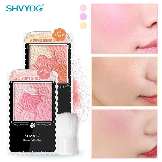 Blush Makeup Palette Cosmetics Powder Blusher Colorete Peach Pink Blushes Rubor Full Professional Make Up Korean Face Rouge Girl