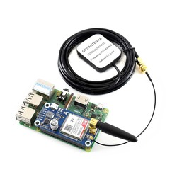 Waveshare NB-IoT/eMTC/EDGE/GPRS/GNSS HAT for RPi Zero/Zero W/Zero WH/2B/3B/3B+, Based on SIM7000E,Supports TCP,UDP,PPP,HTTP,Mail