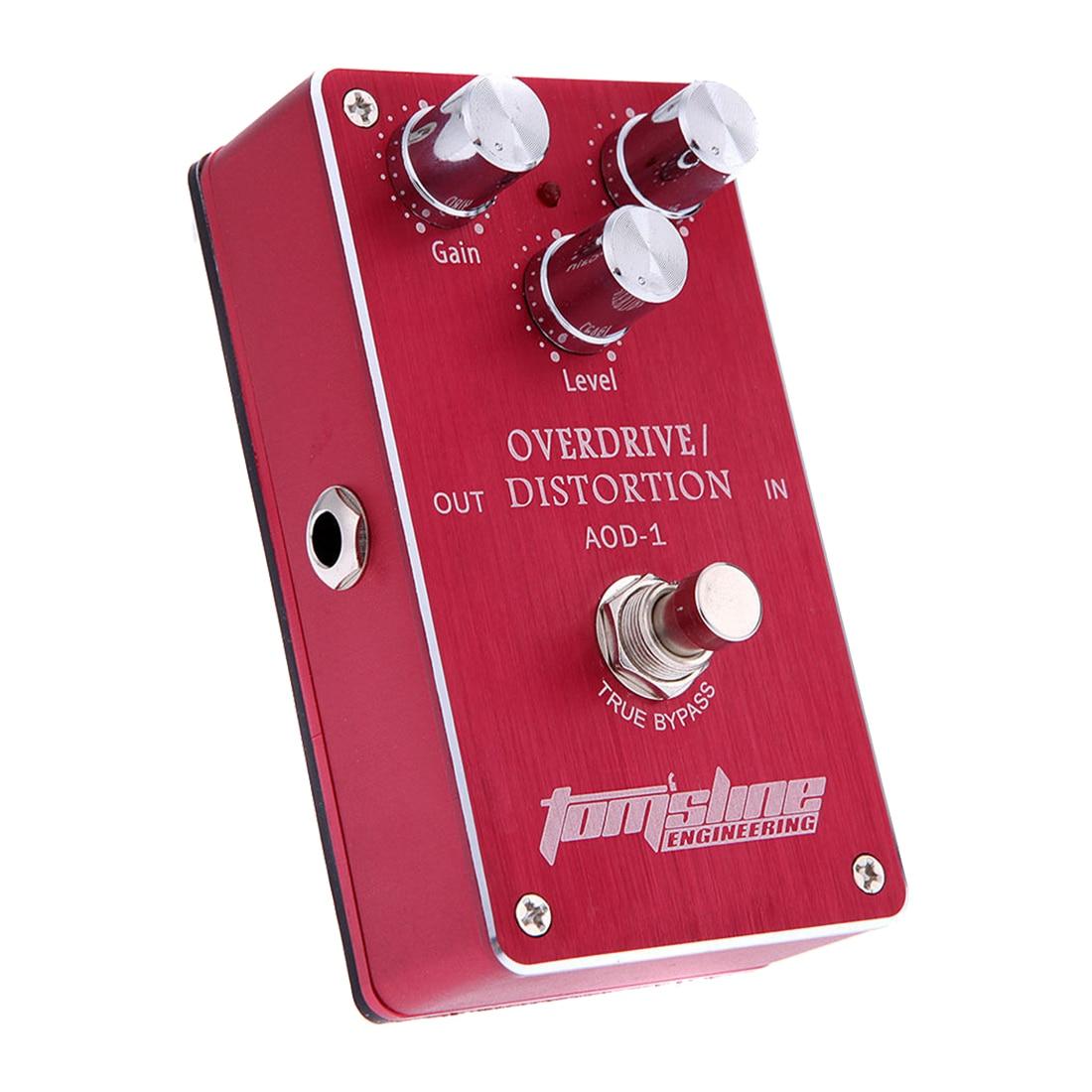 Aroma AOD-1 Electric Guitar Bass Overdrive Distortion Effect Pedal True Bypass педаль overdrive и distortion ampeg scrambler bass overdrive