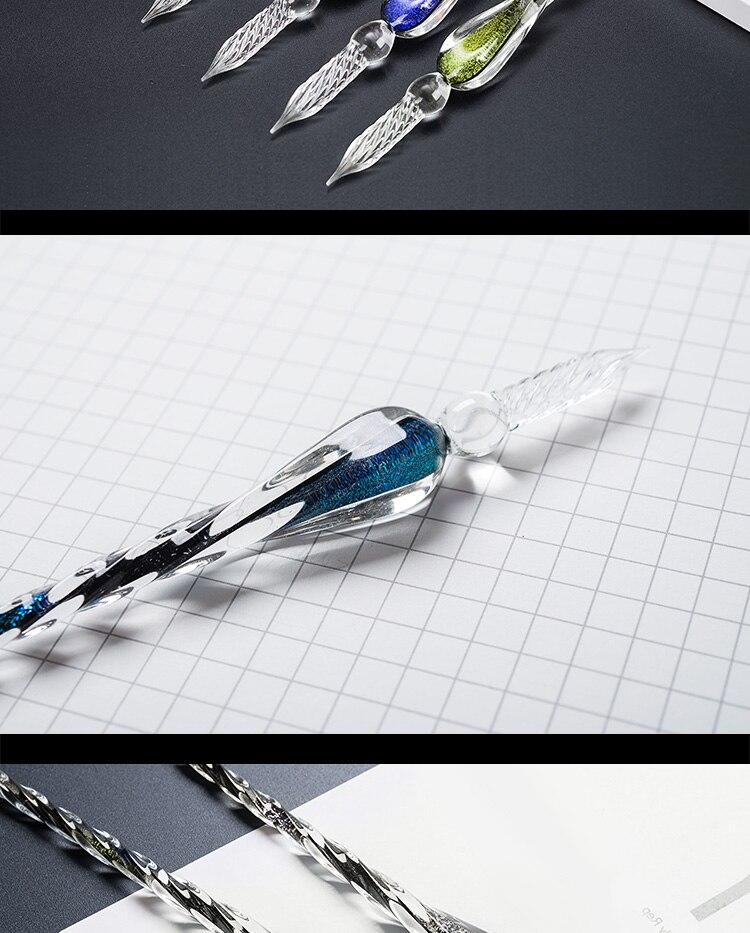Criativo dip caneta titular decorativo em forma