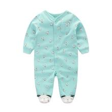 2018 noworodków chłopców dziewcząt mody pajacyki czystej bawełny z długimi rękawami ubrania wiosna lato piżamy i bielizna nocna dla niemowląt