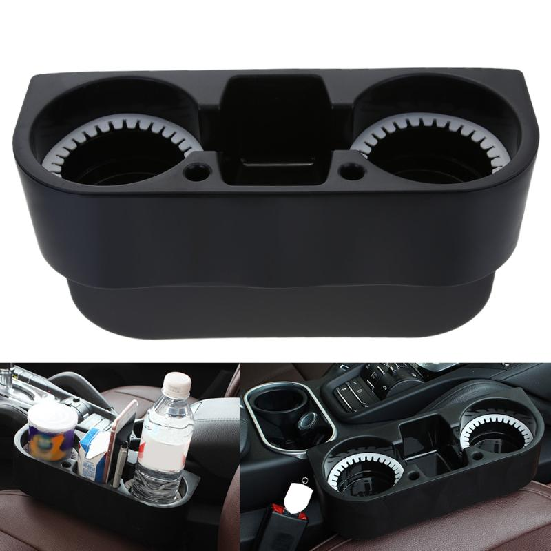 VODOOL Universal Portable Cup Holder Auto Car Truck Food Water Mount Drink Bottle 2 Cup Holder Vehicle Beverage Stand
