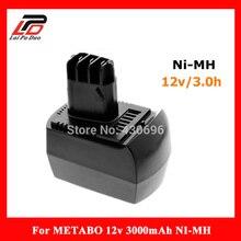 NOUVEAU 12 v 3.0Ah Ni-MH Remplacer batterie d'outils électriques pour METABO 6.02151.50 BZ12SP