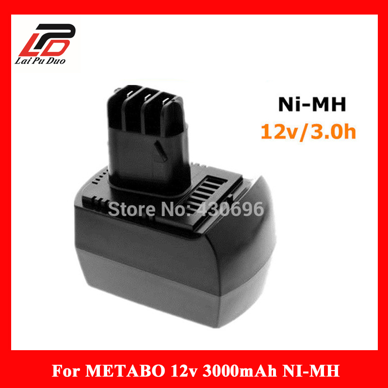 NEW 12v 3.0Ah Ni-MH Replace power tool battery for METABO 6.02151.50 BZ12SP