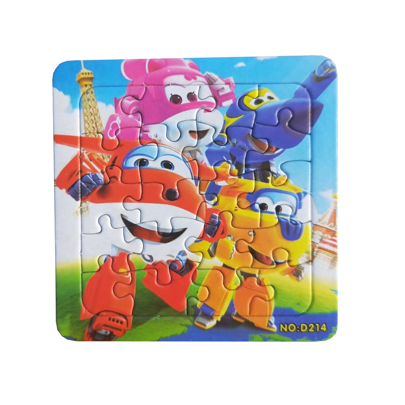 Image 5 - Puzzles Famous Cartoon Super Wings Educational Toy for Children for Baby 16 PCS Puzzle Game Free Shipping Kid Toys-in Puzzles from Toys & Hobbies
