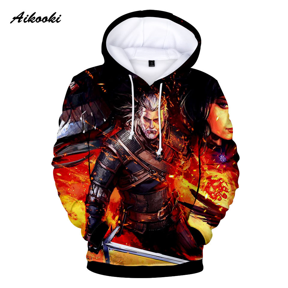 Aikooki The Witche 3D Hoodies Men/Women Hoody 3D Print Flame Design Hooded Clothes Casual Cotton Polluvers Hoodies Sweatshirts