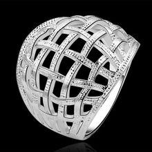 Verano fina estilo platea los anillos plateados 925-sterling-silver la armadura de la joyería para mujeres SR539
