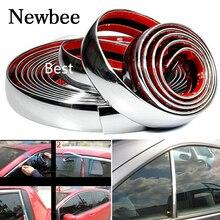 Newbee 5 м Автомобильная хромированная Декоративная полоса литье Стайлинг отделка наклейка 6 мм 8 мм 10 мм 12 мм 15 мм 18 мм 20 мм 22 мм 25 мм 30 мм для Honda Toyota