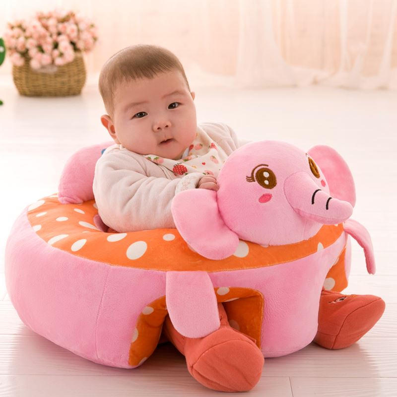 2018 Cute Animal Baby Sofa Support Seat Plush Infant Learning To Sit ...