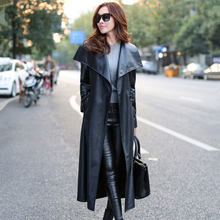 2017 Jaqueta Couro Jacket Full Special Offer Genuine Streetwear Women 's Long Coat Winter New Women' Big Slim Windbreaker