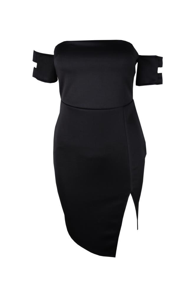 mini šaty sexy party klub pláž příležitostné krátké černé pletené bez rukávů letní šaty bez ramínek otevřené ramena jurken 2018 dámské šaty