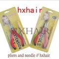 Wholesale - 10pcs No.3 Pliers and Pulling Needle ( Curving Head with Teeth ) / Professional Hair Extension Tools