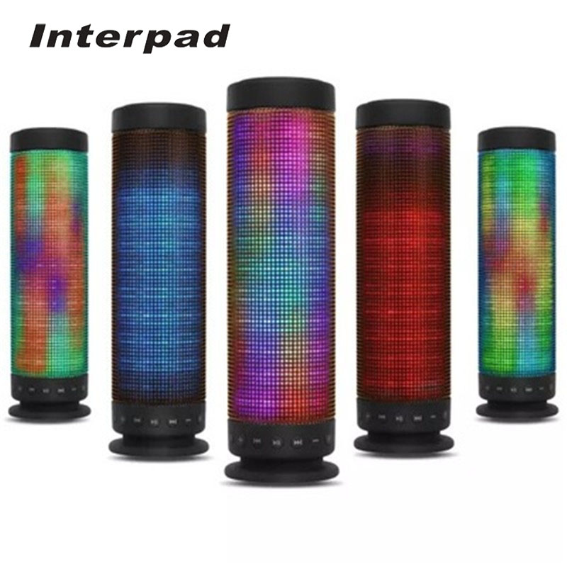 Interpad Wireless Bluetooth Speaker Colorful LED 5W*2 HIFI Stereo Loudspeaker With NFC Support TF Card AUX MP3 Player For Xiaomi tronsmart element t6 mini bluetooth speaker portable wireless speaker with 360 degree stereo sound for ios android xiaomi player