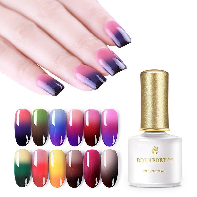 BORN PRETTY 6ml UV Pure Color Nail Gel Polish 13 Colors