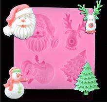 Christmas Styling DIY Fondant Cake baking mold liquid silicone mold cake decorating tools giantvape lemon cake e liquid