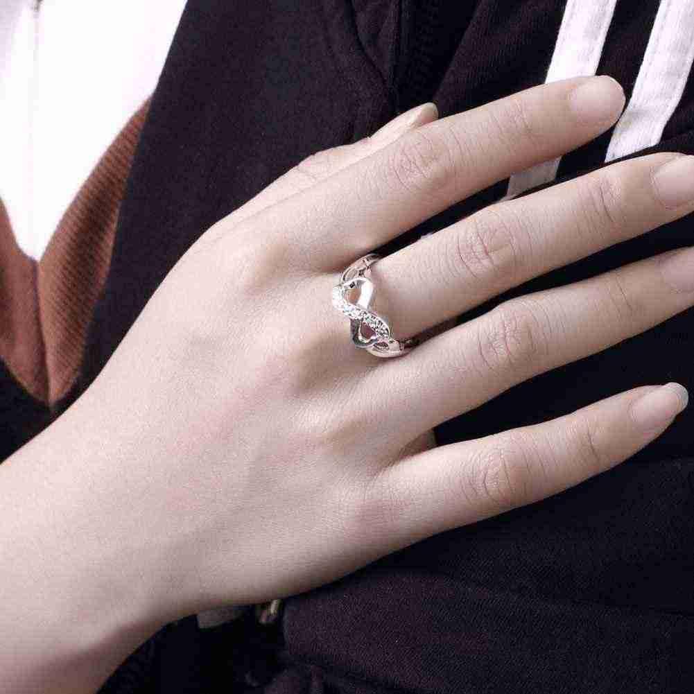 ขายส่งแหวนเงินแฟชั่นเครื่องประดับผู้หญิงผู้ชาย xmas ของขวัญแหวนเงิน 925 แสตมป์ 6 7 8 9 10 SMTR049