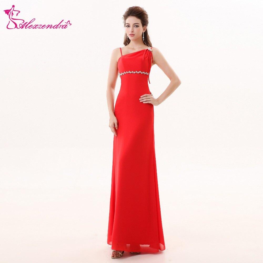 Alexzendra Red Long Chiffon Simple   Bridesmaid     Dress   for Wedding Long Chiffon Party   Dresses   Plus Size