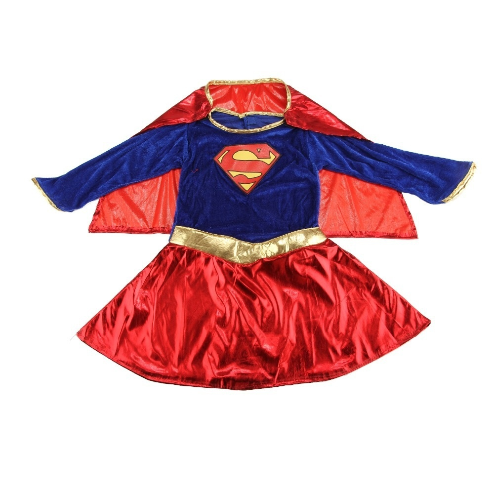 Image 4 - Niños niño niñas disfraz superhéroe Supergirl cómic traje de fiestaDisfraces para niñas   -