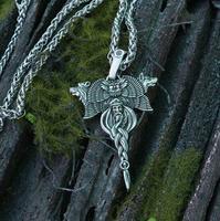lanseis 10pcs Kolovrat pendant Slavic symbol viking Workshop of amulets VELES necklace bear and wolf pendant